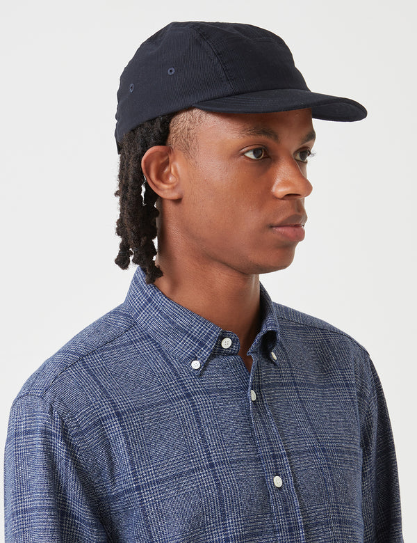 Folk 5-Panel Cap (Textured Fabric) - Navy Blue