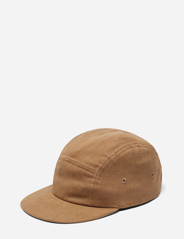 Folk 5-Panel Cap (Cotton Twill) - Tan