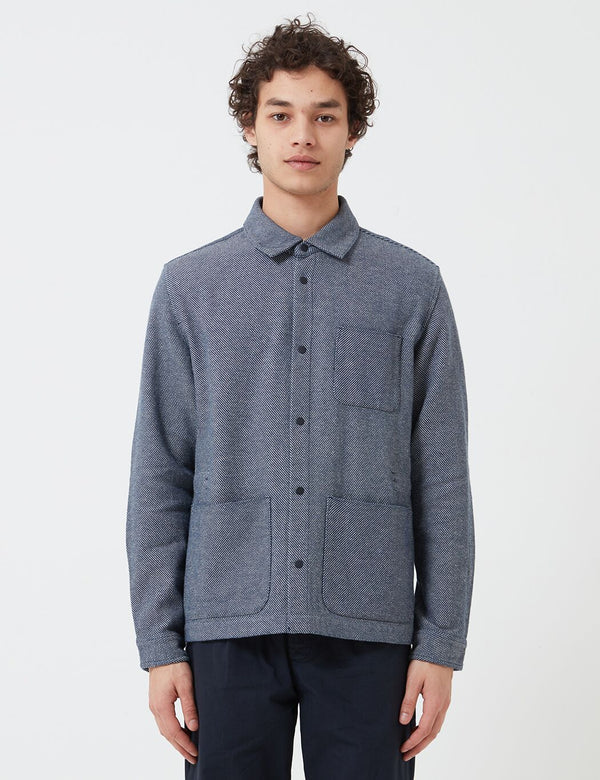 Folk Assembly Jacket - Navy/Ecru Twill