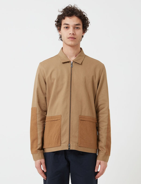 Folk Overlay Jacket - Tan