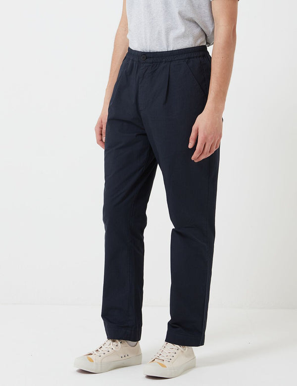 Folk Loom Pants (Relaxed) - Navy Blue