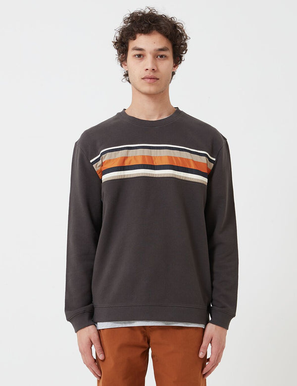 Folk Warp Sweatshirt - Charcoal