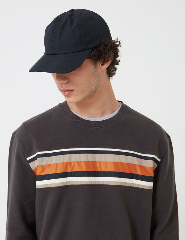 Folk Six Panel Cap - Soft Black