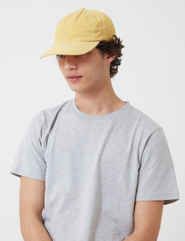 Folk Six Panel Cap (Corduroy) - Light Gold