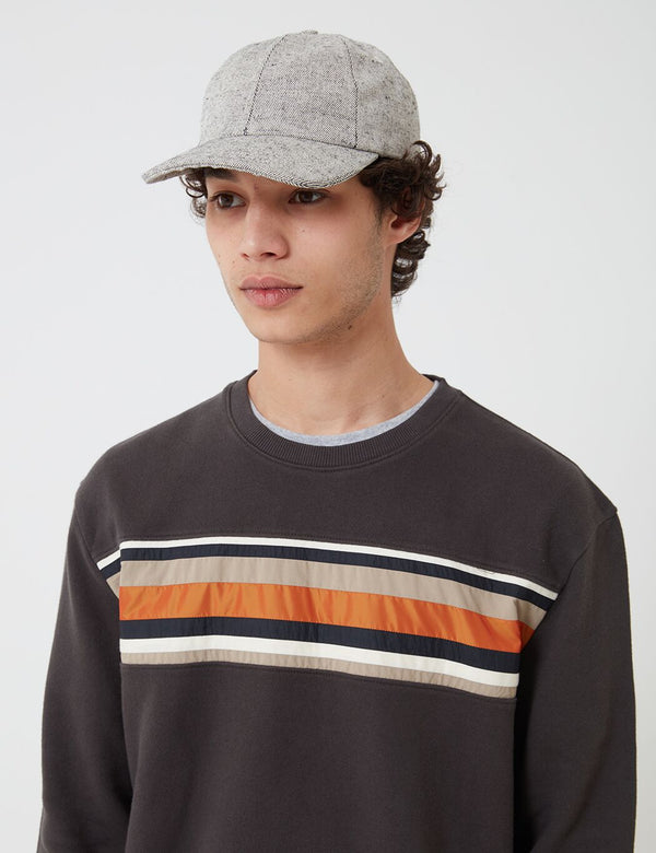 Folk Six Panel Cap - Salt and Pepper