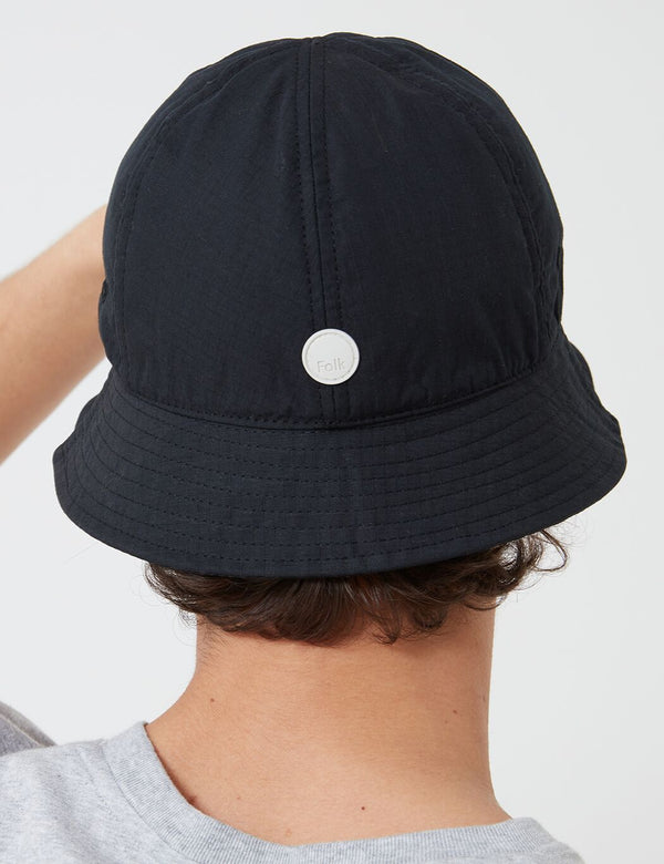Folk Bucket Hat - Soft Black