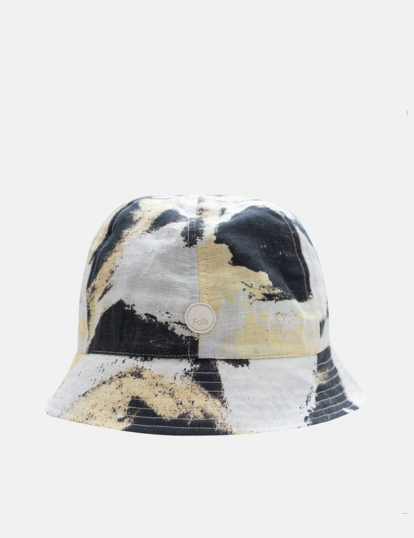 Folk x Alfie Kungu Bucket Hat (Flare Print) - Light Gold