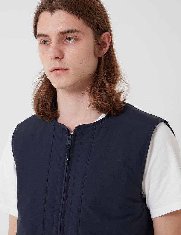 Folk Wadded Junction Gilet - Navy Blue