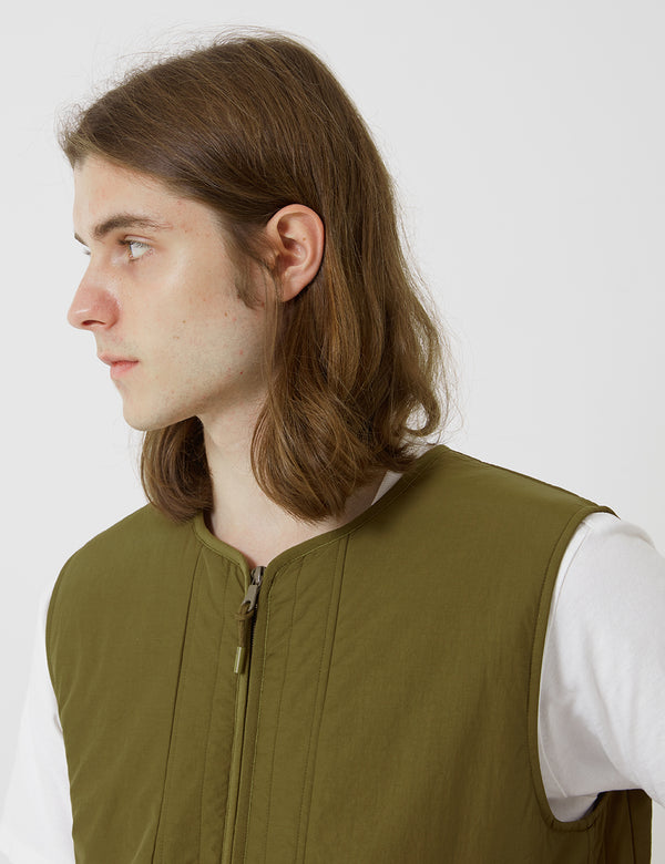 Folk Wadded Junction Gilet - Tobacco