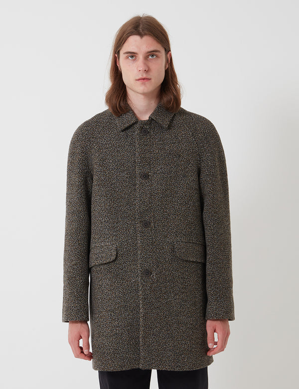 Folk Clean Car Coat - Stone Moss