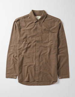 Folk Stitch Pocket Shirt - Peat