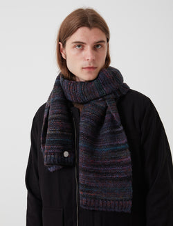 Folk Highlight Scarf - Mottled Navy