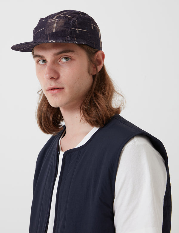 Folk Five Panel Cap - Fracture Check Charcoal