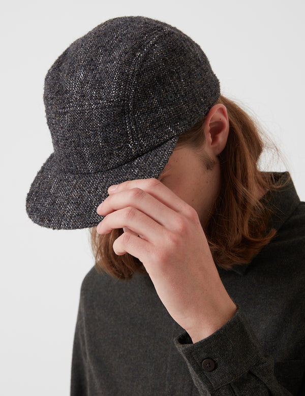 Folk Five Panel Cap - Mottled Charcoal