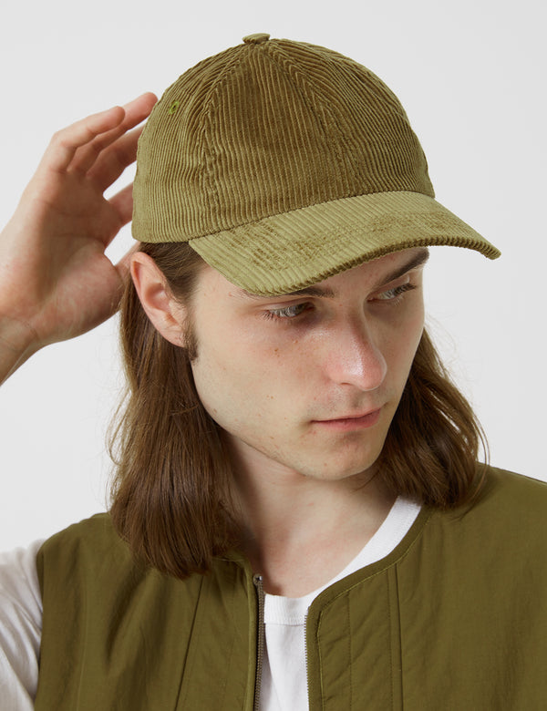 Folk Six Panel Cap (Corduroy) - Tobacco