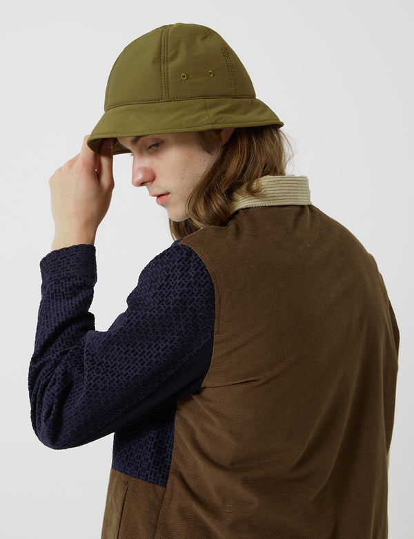 Folk Wadded Bucket Hat - Tobacco