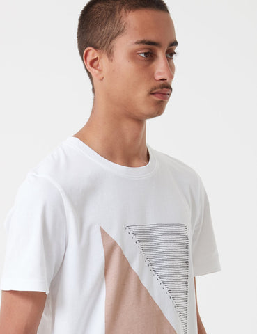 Folk Quota T-Shirt - White Plaster Pink