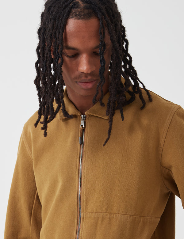Folk Fraction Jacket (Cotton) - Dark Fawn Yellow