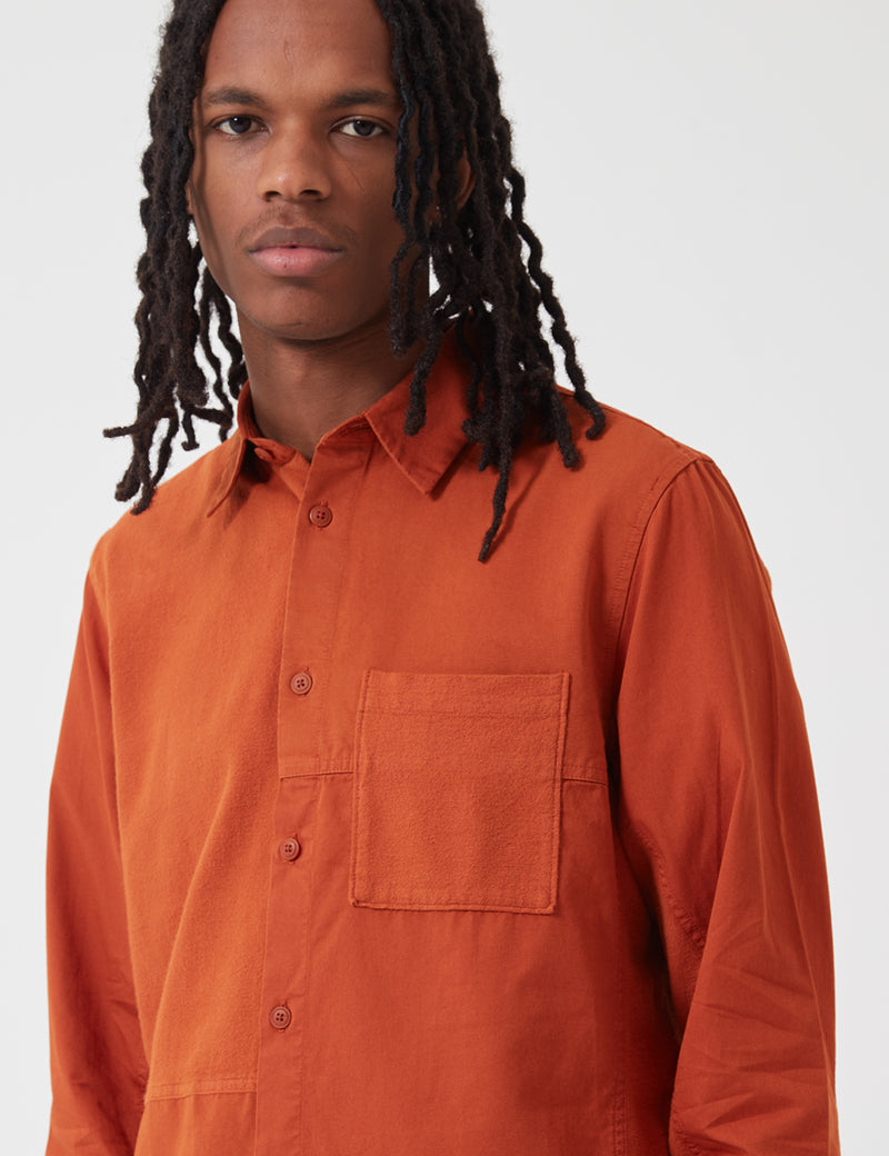 Folk Fraction Shirt (Cord) - Cinnamon Orange