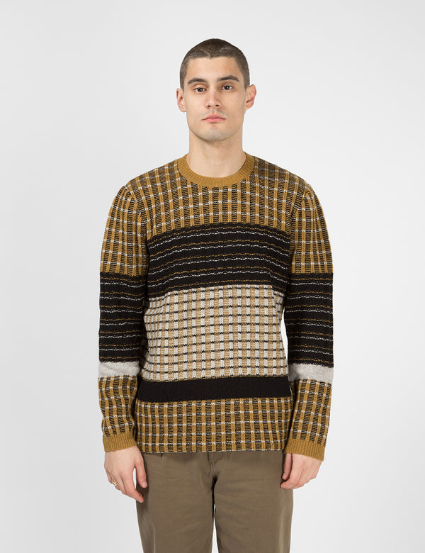 Folk Fraction Jumper - Dark Fawn/Multi