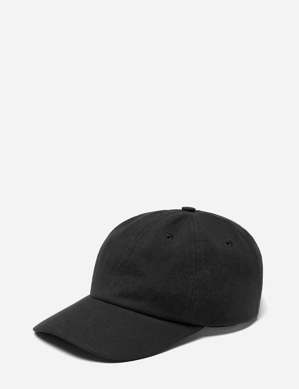 Folk 6-Panel Cap (Cotton Twill) - Soft Black