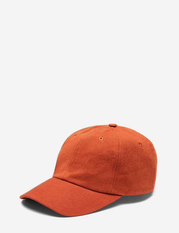 Folk 6-Panel Cap (Cotton Twill) - Cinnamon Orange
