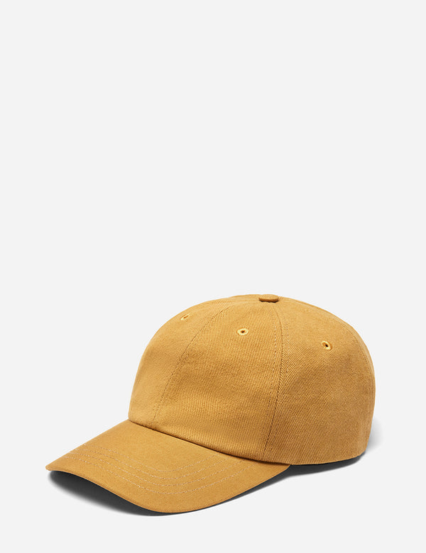 Folk 6-Panel Cap (Cotton Twill) - Dark Fawn Yellow