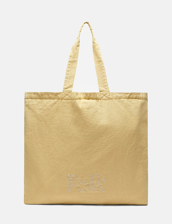 Folk Tote Bag - Dark Fawn