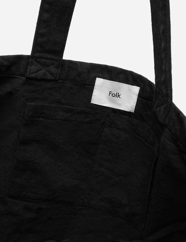 Folk Tote Bag - Soft Black