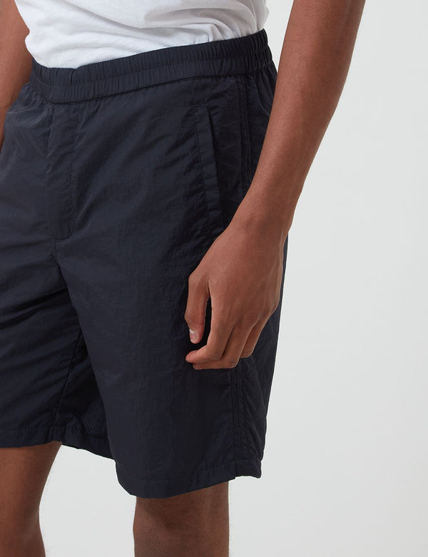 Folk Nylon Shorts - Navy Blue