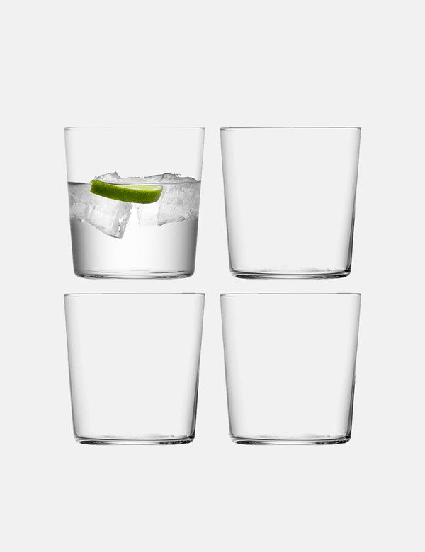 LSA International Gio Tumbler (klein, 390 ml) 4er-Set - Klar