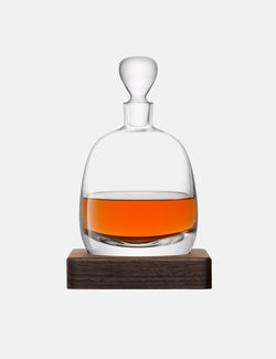 LSA International Whisky Islay Decanter & Walnut Base (1L)