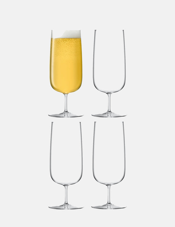 LSA International Borough Pilsner Glass (440ml, Set of 4) - Clear
