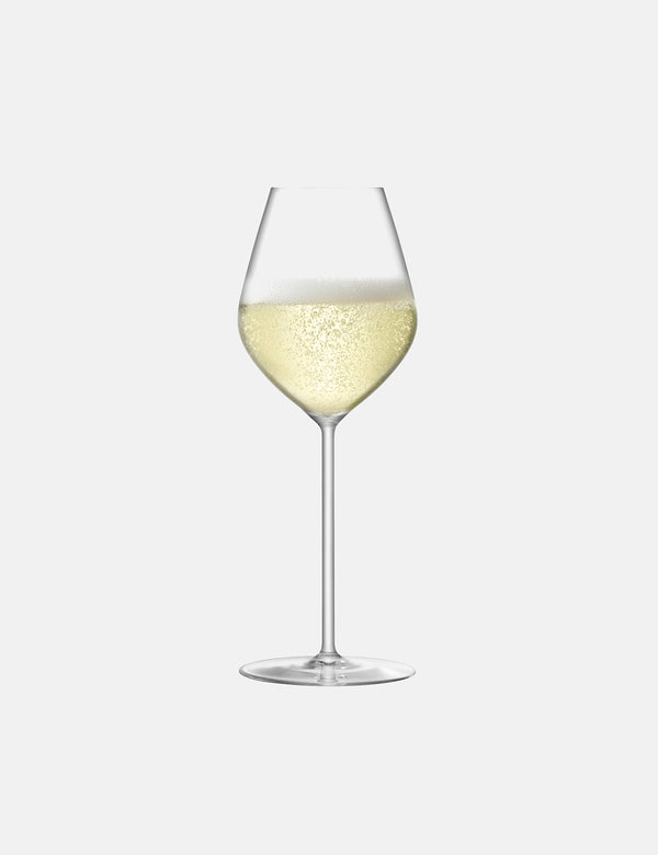 LSA International Borough Champagne Tulip Glass (Set of 4, 285ml) - Clear