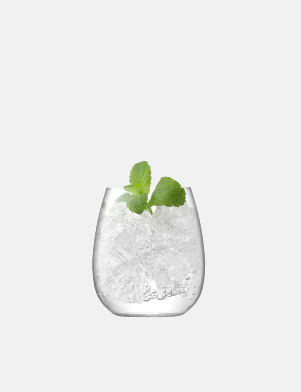 LSA International Borough Stemless Glass (Set of 4, 455ml) - Clear