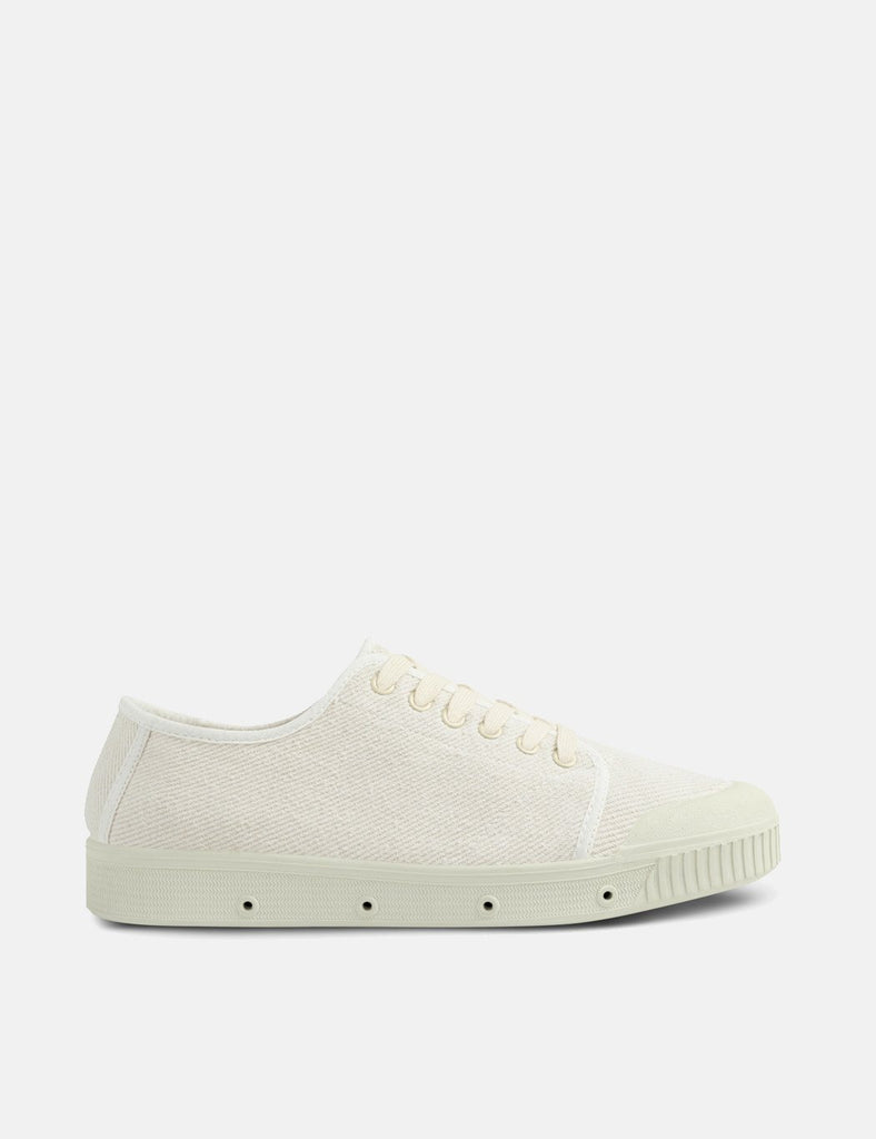 a62dfa232e9 + Spring Court G2 Washed Out Vintage Low Trainers (Heavy Twill) - Off White
