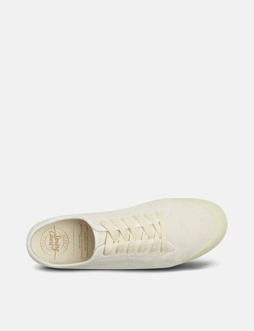 Spring Court G2 Washed Out Vintage Low Trainers (Heavy Twill) - Off White