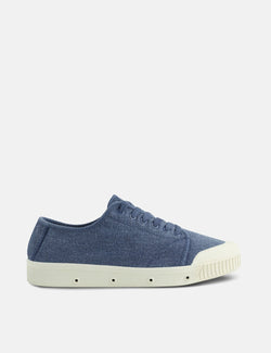 Spring Court G2 Washed Out Vintage Low Trainers (Heavy Twill) - Blue