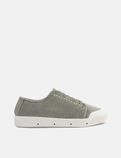 Spring Court G2 Washed Out Trainers (Heavy Twill) - Green