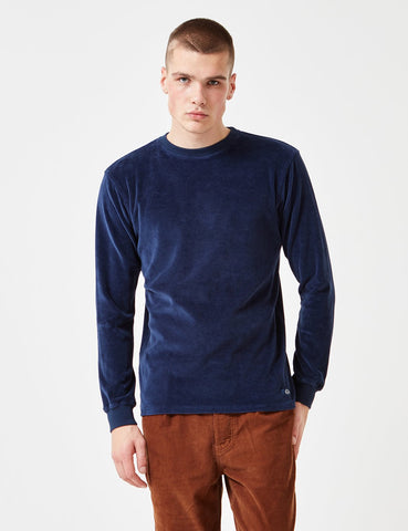 Bleu De Paname Velour Sweatshirt - Navy Blue - Article