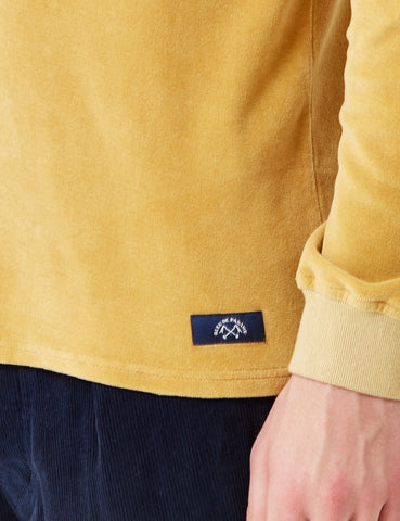 Bleu De Paname Velour Sweatshirt - Yellow - Article