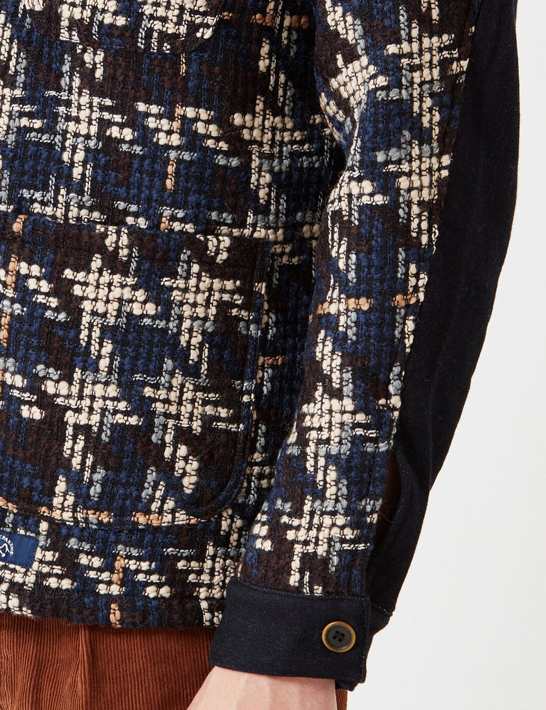 Bleu De Paname Comptoir Jacquard Jacket - Navy Blue - Article
