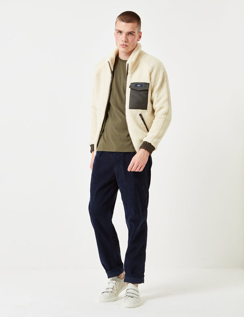 Bleu De Paname Polaire Wool Jacket - Ecru - Article