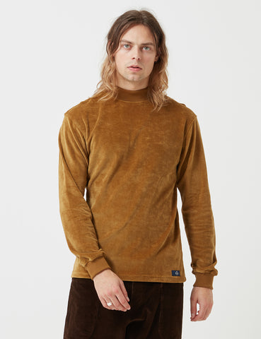 Bleu De Paname Velvet Mock Neck Sweatshirt - Savane - Article