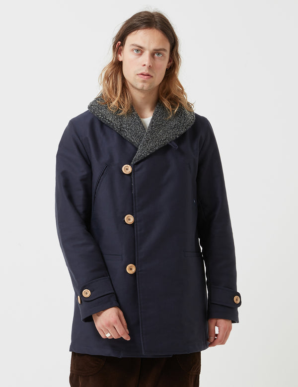 Bleu De Paname Mackinaw Jacket - Navy Blue - Article