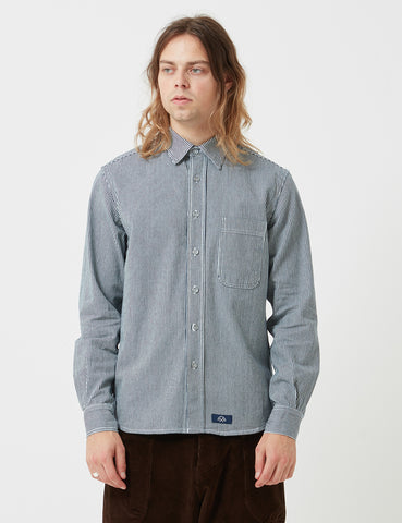 Bleu De Paname One Pocket Striped Shirt - Marine - Article