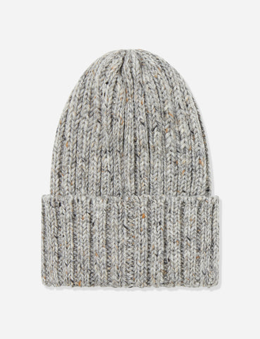 Highland Donegal Beanie Hat UK Made (Wool) - Heather Grey