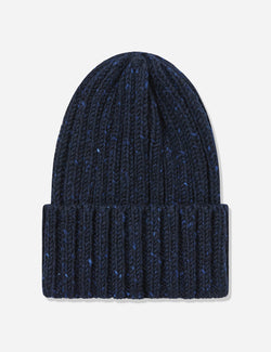 Highland Donegal Beanie Hat UK Made (Wool) - Navy Blue