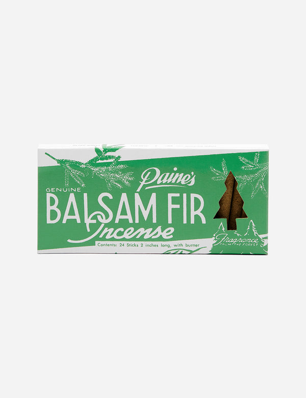 Paines Balsam Fir Incense Sticks - Green