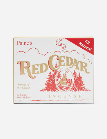 Paines Cedar Incense (32 Cones) - Red